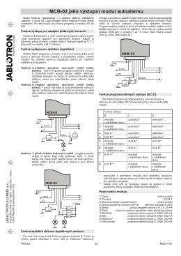 MCB-02 jako vęstupní modul autoalarmu