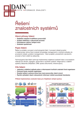 Řešení znalostních systémů