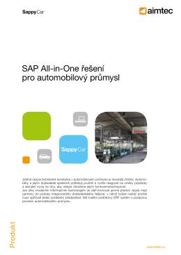 SAP All-in-One řešení pro automobilový průmysl