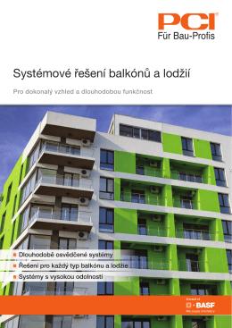 Systémové řešení balkónů a lodžií
