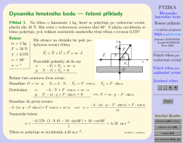 Dynamika hmotného bodu — řešené příklady