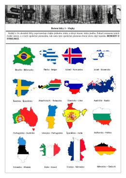 Řešení šifry 1 – Vlajky Každý z 16 obrázků šifry