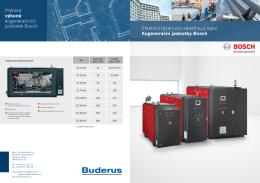 Efektivní řešení pro elektřinu a teplo Kogenerační jednotky Bosch