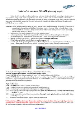 Instalační manuál SL-650 (červený maják)