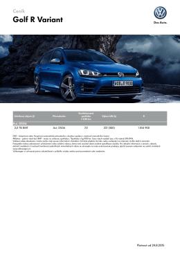 Ceník Golf R Variant