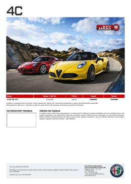 Ceník - Alfa Romeo