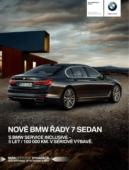NOVÉ BMW ŘADY 7 SEDAN