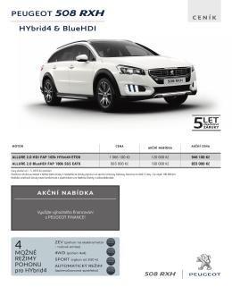 PEUGEOT 508 RXH HYbrid4 & BlueHDI