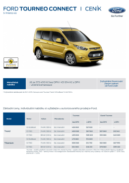 FORD TOURNEO CONNECT I CENÍK