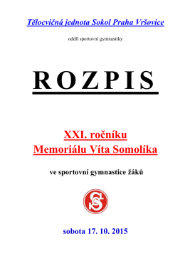 Rozpis Memoriálu Víta Somolíka 2015