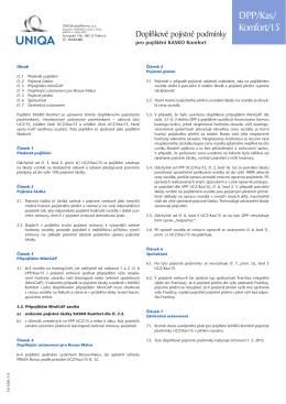 DPP/Kas/Komfort/15 - Havarijní pojištění vozidel KASKO