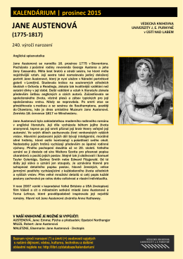 Jane Austenová (1775 - 1817)
