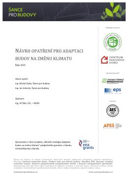 návrh opatření pro adaptaci budov na změnu