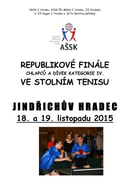RF Stolní tenis IV. Jindřichův Hradec