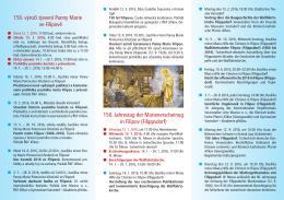 150. výročí zjevení Panny Marie ve Filipově 150. Jahrestag der