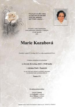 Marie kozubová - Římskokatolická farnost Šumice