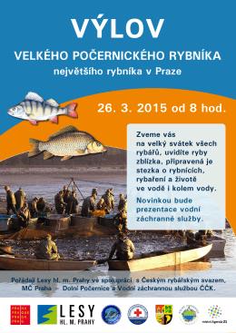 Velkého počernického rybníka 26. 3. 2015 od 8