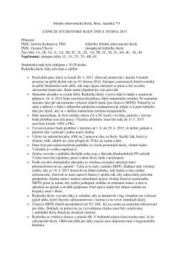 Zápis ze dne 8. dubna 2015