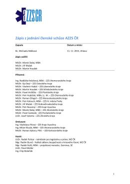 zápis AZZS 3/2015 - Asociace zdravotnických záchranných služeb ČR