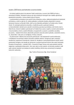 do Prahy a německých Drážďan. - SŠIEŘ