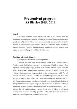 Specializační kurz prevence rizikového chování II