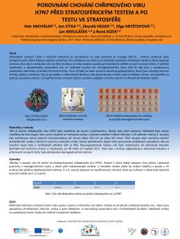 4. porovnání chování chřipkového viru h7n7 před