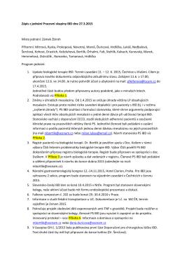 Zápis PS IBD - Pracovní skupina pro IBD