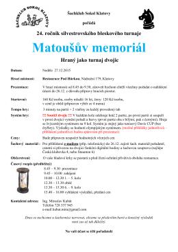 Matoušův memoriál