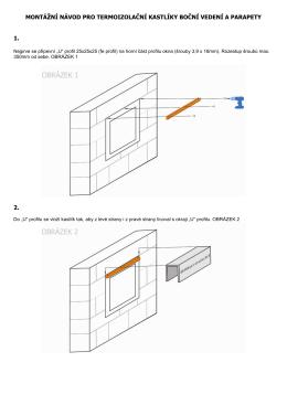 montážní návod pro termoizolační kastlíky boční vedení a parapety 1