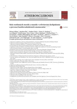 ATHEROSCLEROSIS - Česká společnost pro aterosklerózu