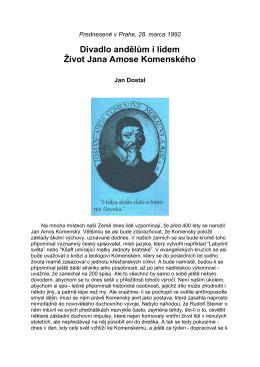 Život Jana Amose Komenského