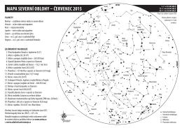MAPA SEVERNÍ OBLOHY – čERVENEC 2015