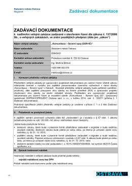 Zadávací dokumentace ZADÁVACÍ - Veřejné zakázky