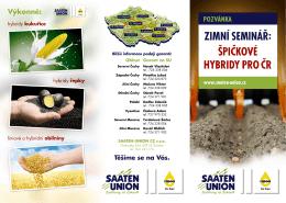 SAATEN-UNION pozvánka Zimní semináře 2016