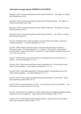 Literatura excerpovaná do NDMSP (k 24.10.2015)