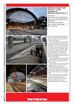 Modernizace západní části Praha hl. n., 2. část, nástupiště I