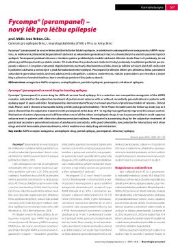 Fycompa® (perampanel) – nový lék pro léčbu epilepsie