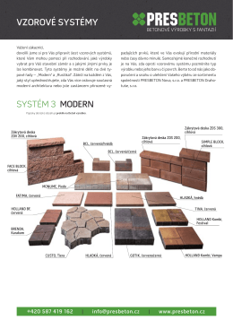 Vzorový systém 3 MODERN - CZ