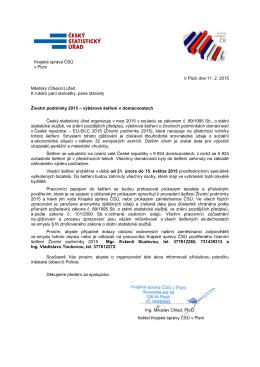V Plzni dne 11. 2. 2015 Městský (Obecní) úřad K rukám paní