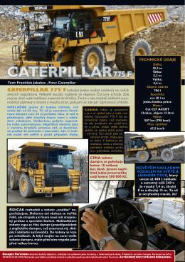 CaTerpillar 775 F