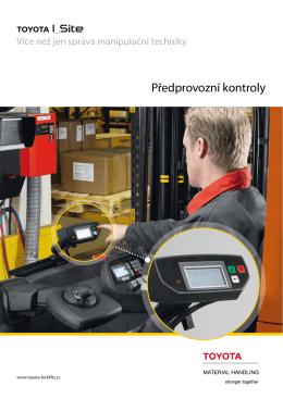 Předprovozní kontroly - Toyota Material Handling CZ sro
