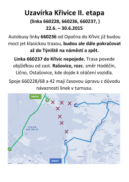Uzavírka Křivice II. etapa (linka 660228, 660236, 660237, )