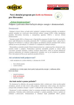 Zelená domácnostiam_Dotace SK_2015