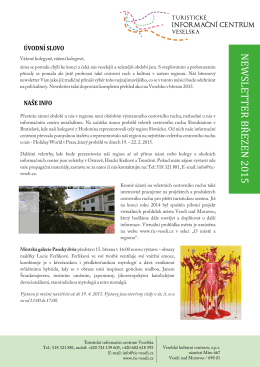 NEWSLETTER březen 2015