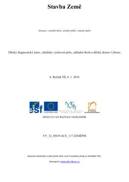Stavba Země - Dětský diagnostický ústav a SVP Liberec