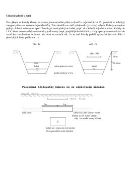 Uložení kabelů v zemi Do výkopu se kabely kladou na vrstvu