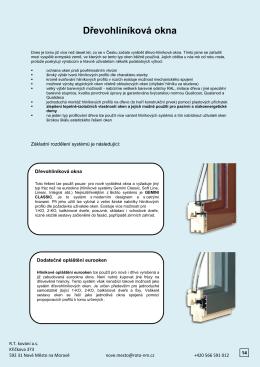 Dřevohliníková okna - Dřevěná okna a dveře na míru
