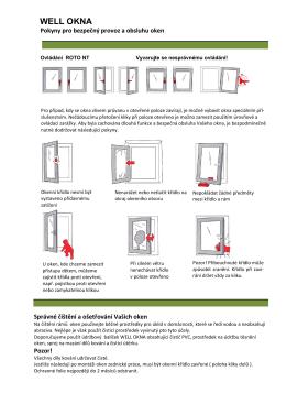 Návod na údržbu oken