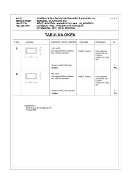 Tabulka oken 2