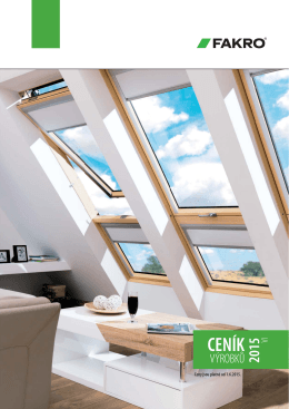 Fakro - ceník okna 01-06-2015 - STAV